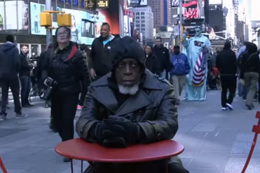 After 44 years in prison, Otis Johnson wasn't ready for the world of electronic billboards and smartphones he found in Times Square.