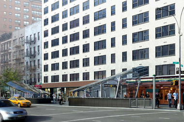 A rendering of the southeast corner at East 69th Street and Second Avenue.