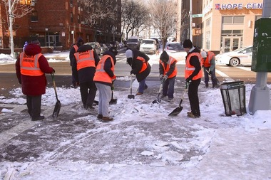 You could make $15 an hour helping the city clear crosswalks, bus stops and hydrants after the big snow storm Thursday.