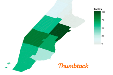The Upper East Side ordered the most massages in Manhattan over the last three years, according to Thumbtack.