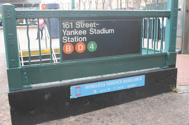 The MTA announced today that WiFi service is coming to 37 new subway stations, including the Yankee Stadium stop.