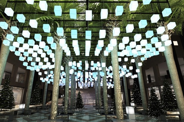 650 Interactive Lanterns To Light Up Brookfieldu0027s Winter Garden Atrium    Battery Park City   New York   DNAinfo