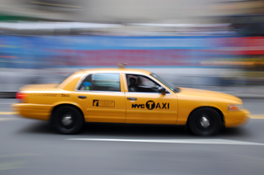 Using the Arro and Bandwagon apps you'll be able to book a shared ride in a taxi cab.