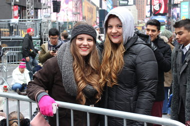 Autumn Burgett, left, and Cassidy Campbell drove in from Michigan for the festivities.