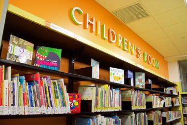 The children's room at the Court Square library in Queens.