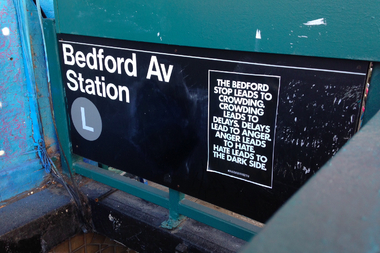 If you spend any time at the Bedford Avenue L train stop, you're doomed.