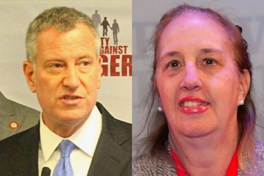 Mayor Bill de Blasio and Manhattan Borough President Gale Brewer.