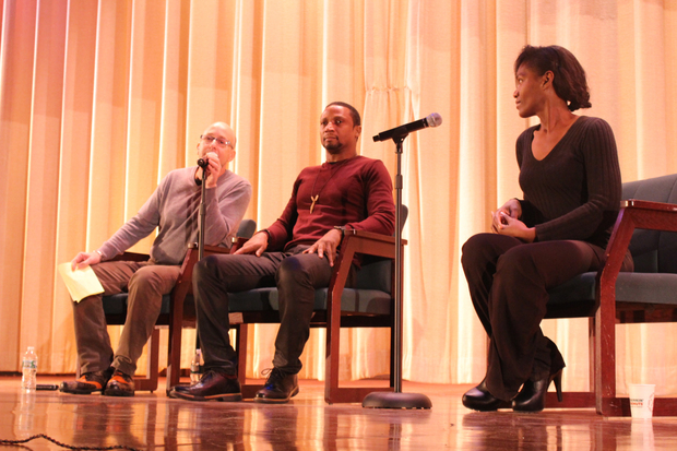 Elvis Nolasco met with students and teachers a local high school to talk about his acting career.