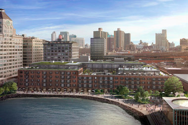 A rendering of the redeveloped Empire Stores in DUMBO.