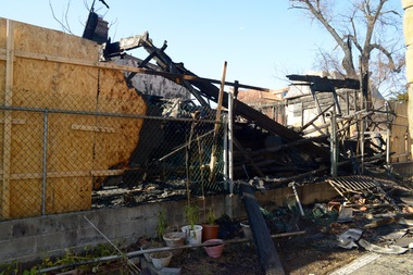 This home on 69th Road was torched Dec. 5, police said. The suspected arsonist had first tried to burn down the home in November but the fire department got to the home before it spread.