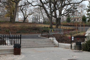 The Willoughby Avenue entrance at Fort Greene Park is now open.