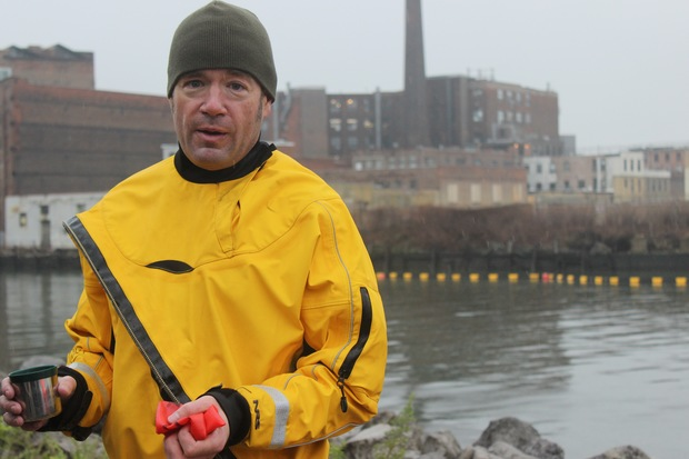 Christopher Swain who's paddled through polluted waterways for years said Newtown Creek was his worst experience yet, after his putrid plunge on Wednesday.