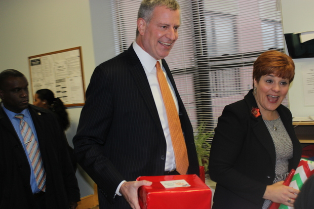 It's been two years since  Bill de Blasio  emerged from a pack of Democratic contenders to beat one-time front-runner and former City Council Speaker Christine Quinn in a spirited mayoral primary. But now that he's mayor and she's the CEO of  WIN , the largest non-profit provider of services to homeless women and children, the two former rivals say they work closely together on an issue that has become a top focus of the de Blasio administration.