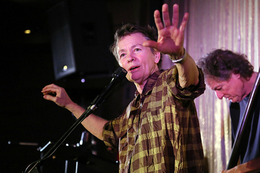 Experimental artist and musician Laurie Anderson will give a performance live in Times Square for canine dogs and their handlers at 11 p.m. on Monday, Jan 4.