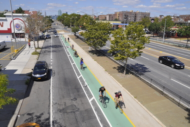 The new bike lanes on Queens Boulevard and 50th Street.