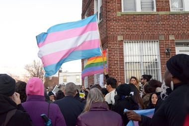 The rally denounced violence in the trans community.