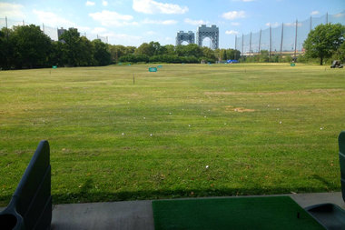 Four men snuck into the Randall's Island driving range and enjoyed a free afternoon of golf, police said.