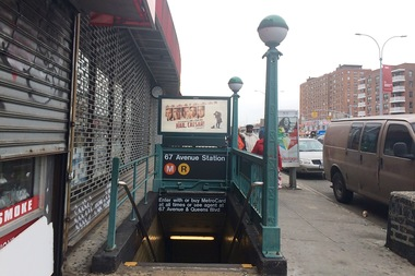 The incident took place at the 67th Avenue subway station Wednesday.