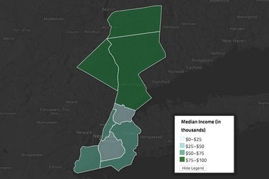 The Area Median Income is calculated using the incomes of New York City along with Westchester, Rockland and Putnam counties.