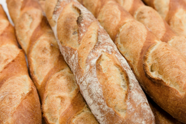 Baguettes for sale at DUMBO's Almondine Bakery, a contestant in the