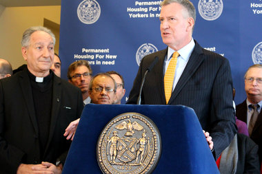 Mayor Bill de Blasio will announce new rules for the city's affordable housing lotteries.
