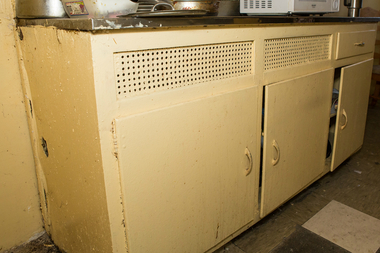 Holmes Towers needs $30 million in capital improvements, including upgrading kitchen cabinets like this one.