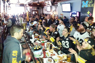 Irish Exit at 978 Second Ave. in Midtown is a popular Steelers bar.