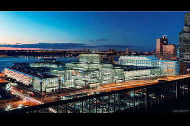A rendering of the Javits Center after its planned $1 billion expansion.