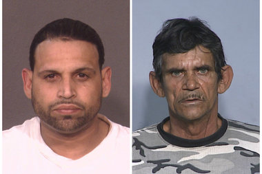 A drug sting in Stapleton led to the arrest of John Santos (left) and Ramon Pantaleon (right), along with eight others, District Attorney Michael McMahon announced.