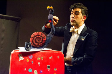 Award-winning puppeteer Joshua Holden performs a show with his socket puppet Mr. Nicholas in which he teaches lessons about self-discovery and finding joy. He will be in the Upper West Side this weekend.