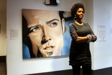 Omo Misha finished a portrait of Scott Weiland in 2014. The portrait is one of many on exhibit at MIST Harlem. She is hosting a tribute to the former singer Tuesday.