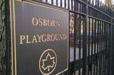 An 18-year-old woman was raped in Osborn Playground, police said.