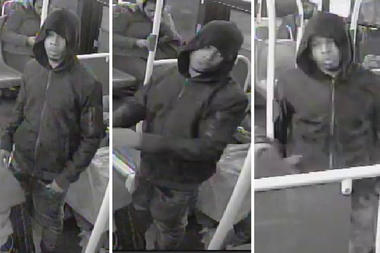 Police are looking for a man who robbed a 13-year-old boy at gunpoint last month in Fort Greene.
