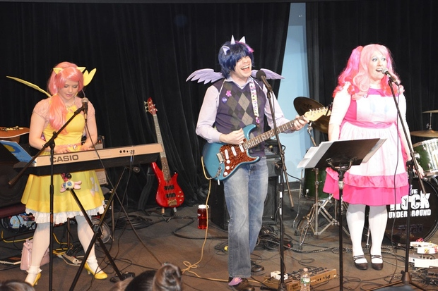 The Shake-ups in Ponyville, a band that plays music inspired by My Little Pony, will be among the performers at Ponycon 2016, the convention for