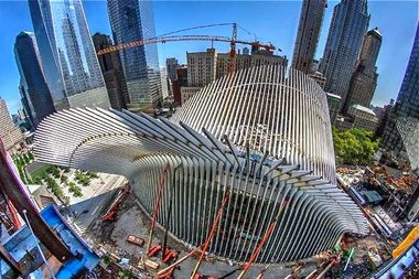 The long-delayed, $4 billion transportation hub is slated to open in 2016.