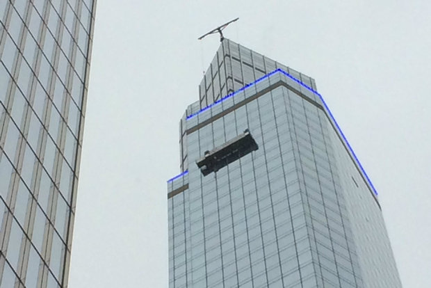 Workers rescued from outside 62nd floor of midtown hotel for Terrace 54 1717 broadway
