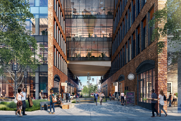 New renderings of an 8 story office, retail and manufacturing building coming to 25 Kent Ave. in Williamsburg.
