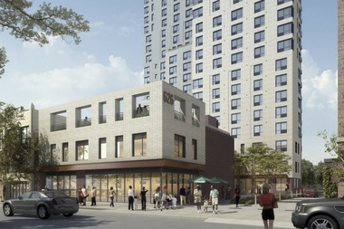 The Greenlight bookstore will move into space at 626 Flatbush Ave., a new mixed-use tower under construction in Prospect-Lefferts Gardens.