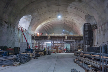 The Second Avenue Subway's 72nd Street cavern as of Jan. 21, 2016.