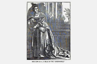 "An illustration of a prostitute from George Ellington's ""The Women of New York, or The under-world of the great city."""