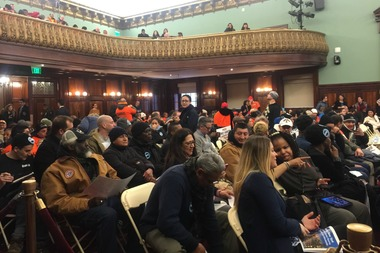 Crowds of people came to the City Council hearing on Mandatory Inclusionary Housing on Feb. 9, 2016.