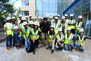 The students who interned for the city's Department of Design and Construction in 2015.