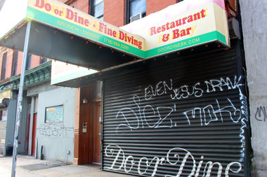 A new bar is planned in the former location of Do or Dine on Bedford Avenue between Quincy Street and Lexington Avenue.
