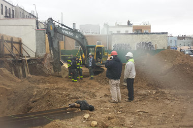 A worker was injured during a fall at a construction site where an
