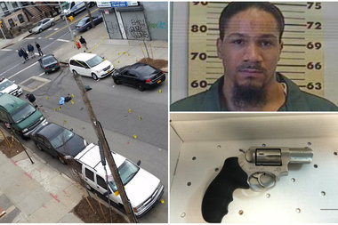 Frederick Funes, was arraigned Thursday on a 37-count indictment for a February shootout with police in Brooklyn.