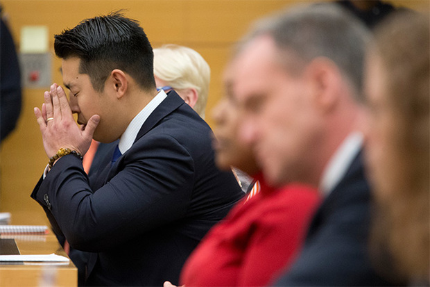 Officer Peter Liang was found guilty of manslaughter and official misconduct in the fatal shooting of unarmed Brooklyn father Akai Gurley on Feb. 11.