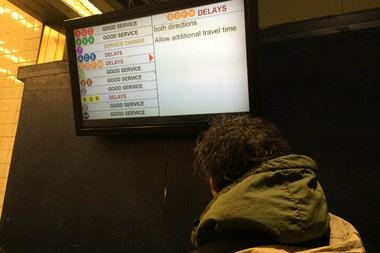 Commuters faced extensive delays Monday morning.