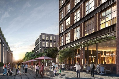 A rendering released Feb. 9, 2016 of Avery Hall Investments' plans for 120 Fifth Ave., a parcel that's now home to a Key Food grocery store.