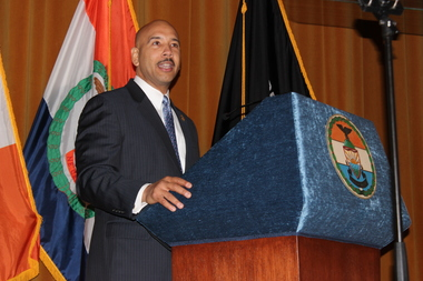 Bronx Borough President Ruben Diaz Jr. gave his 2016 State of the Borough address on Thursday at Cardinal Hayes High School.