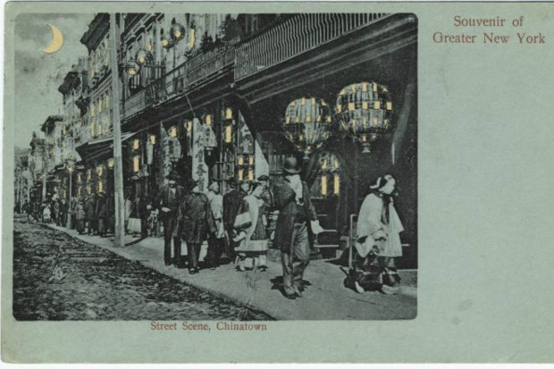 Scenes of the history of Chinatown.